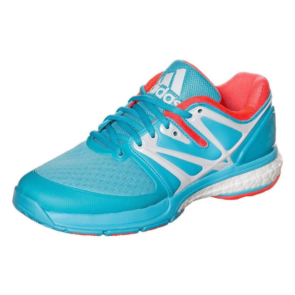 adidas Performance Stabil Boost Handballschuh Damen in hellblau / neonrot