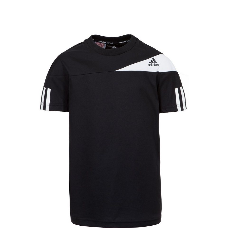 adidas Performance Response Tennisshirt Kinder in schwarz / weiß