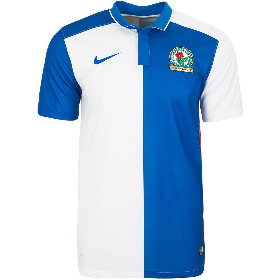 NIKE Blackburn Rovers Trikot Home Stadium 2015/2016 Herren in blau / weiß