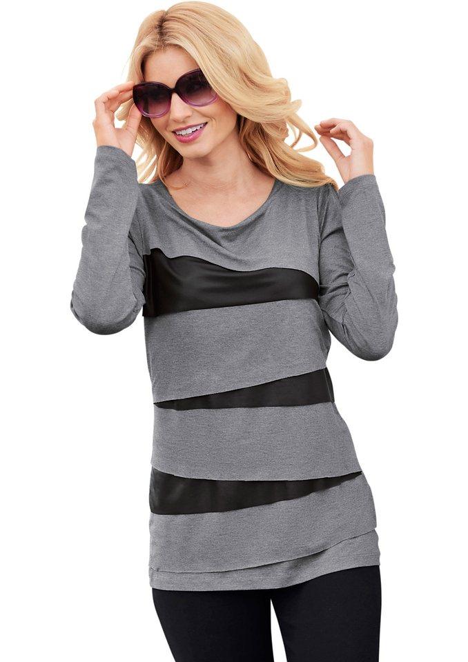 Shirt in grau-schwarz