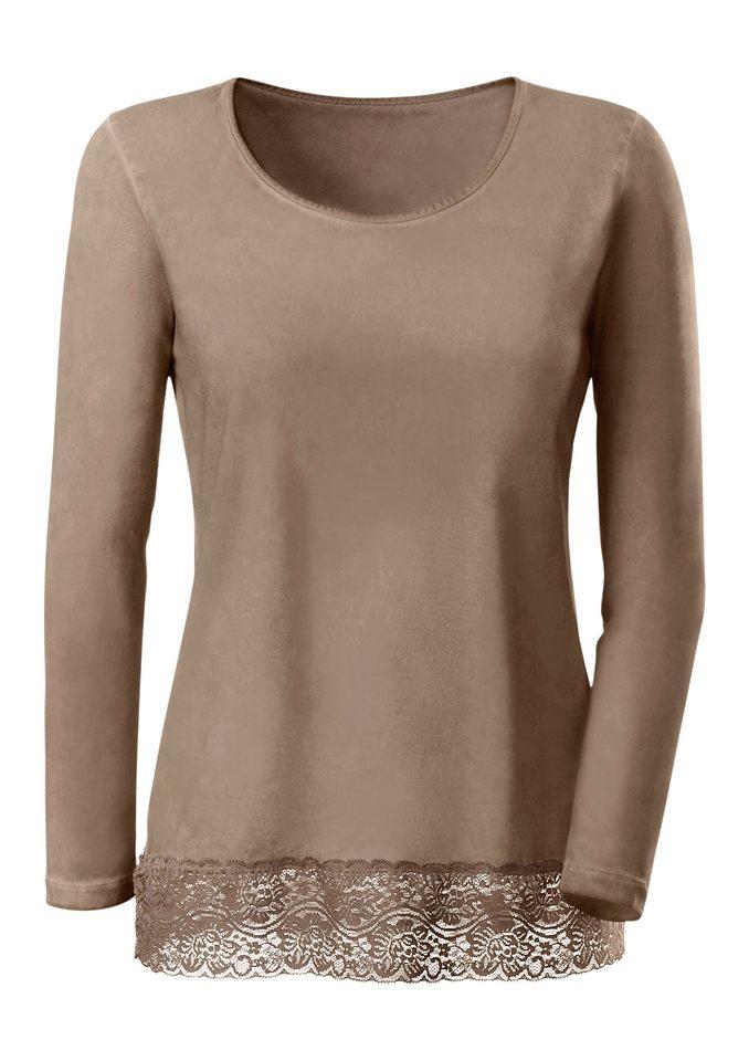 Ambria Longshirt mit Rundhals-Ausschnitt in beige