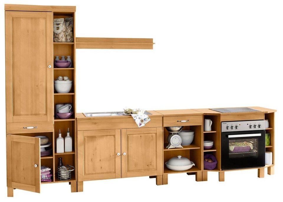 kuchenschranke einzeln bestellen : Spar-Set ?R?m?? (5-teilig), Breite 325 cm in gelaugt ge?lt