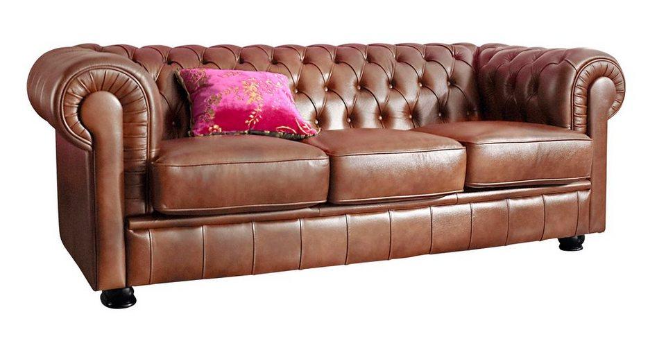 Max Winzer Chesterfield 3 Sitzer Sofa Kent Im Retrolook Mit