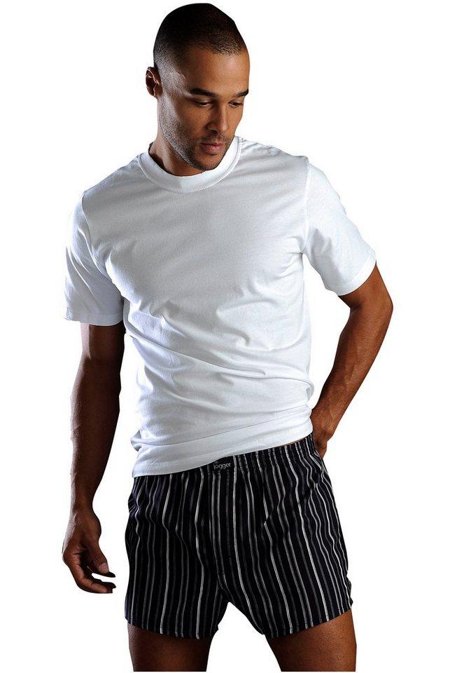 Rundhalsshirt (6 Stück) in 6x weiß