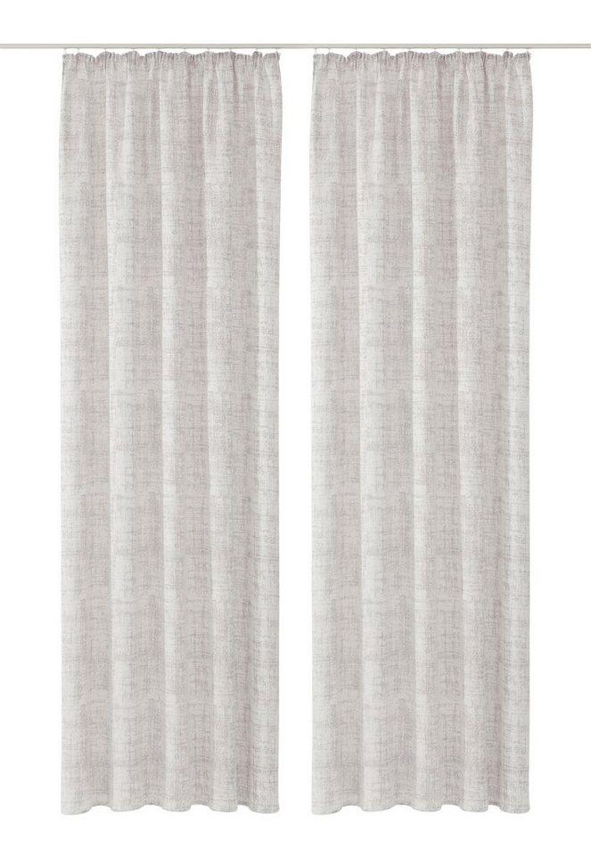Vorhang, Home Wohnideen, »Corte« (2 Stück) in grau-weiß