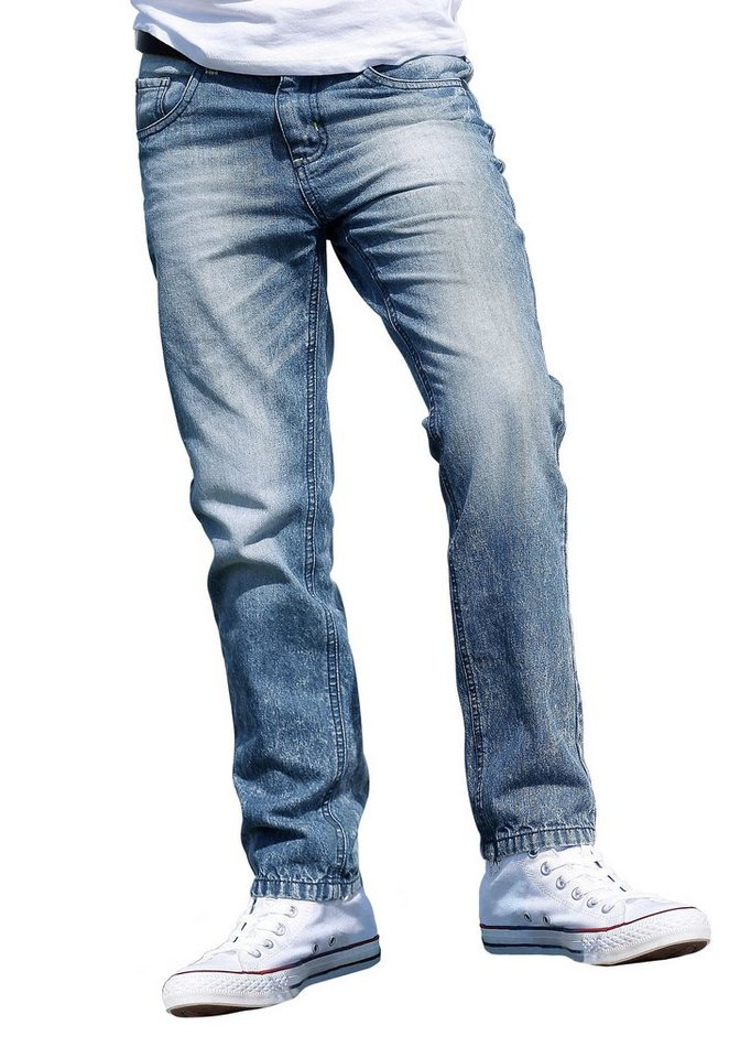 Arizona Stretch-Jeans Regular-fit mit schmalem Bein in light-blue