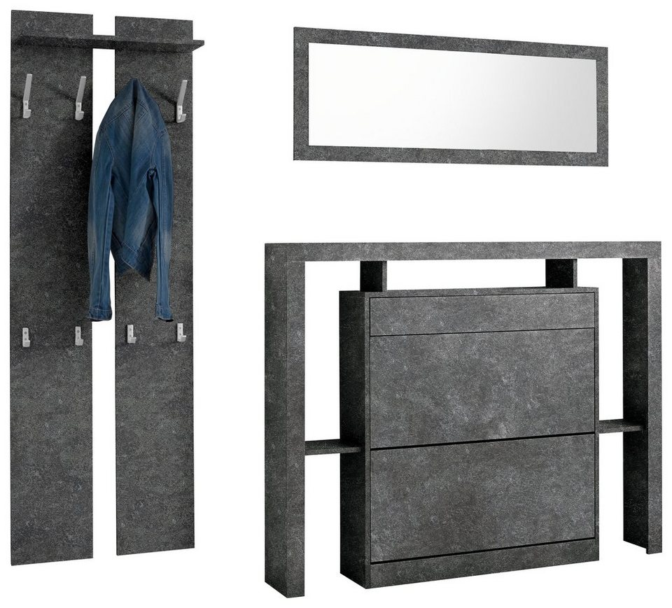 garderoben set espoo 3 tlg online kaufen otto. Black Bedroom Furniture Sets. Home Design Ideas