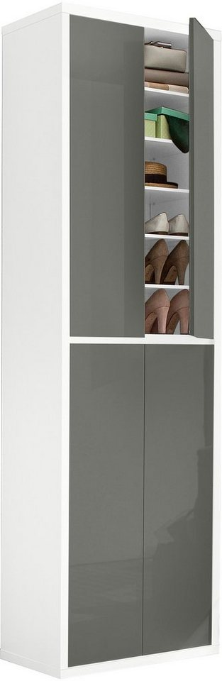 HMW Schuhschrank »Spazio« in weiß-anthrazit