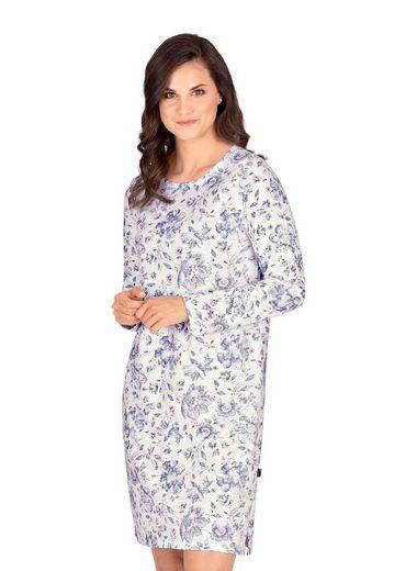 Trigema Nachthemd mit floralem Muster