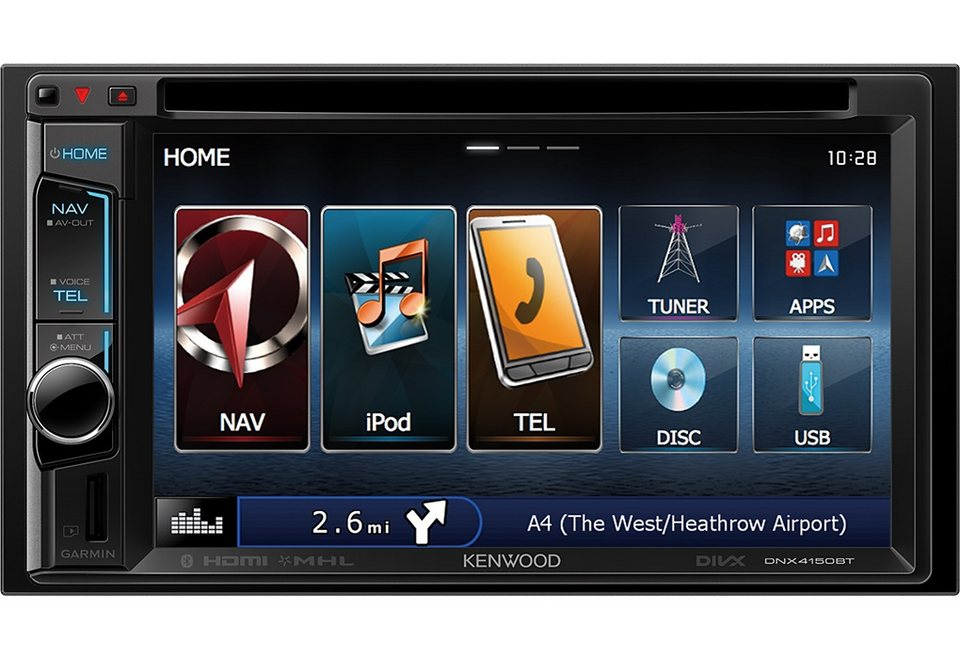 Kenwood 2-DIN Navitainer mit Bluetooth »DNX4150BT« in schwarz