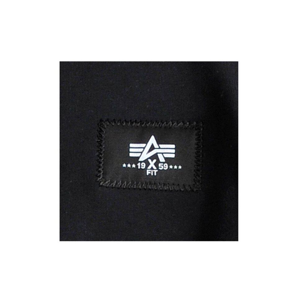 ALPHA INDUSTRIES Sweats »X-Fit Basic Zip Hoody« in black
