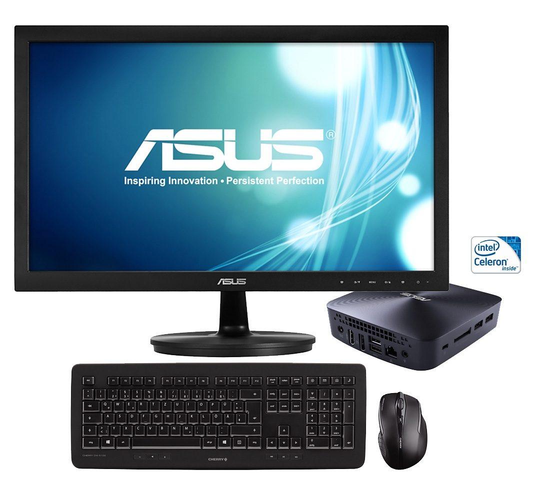 ASUS Intel® Celeron, 4GB RAM, 128GB Speicher, inkl. Monitor »Asus Vivo Mini-PC«