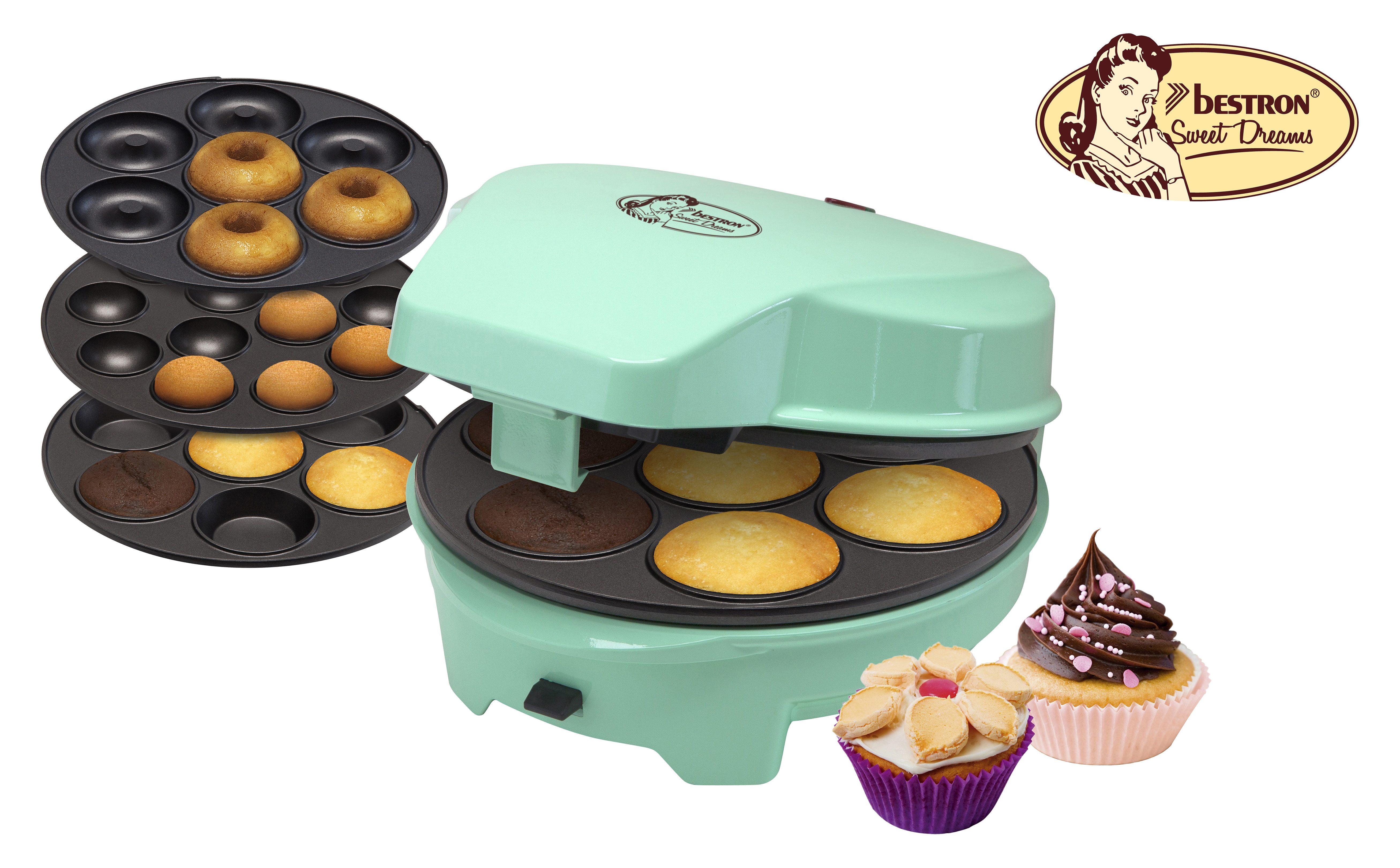 bestron Cakepop-Maker ASW238, 700 W, Donuts-, Muffin- und Cakepops-Maker in einem Gerät