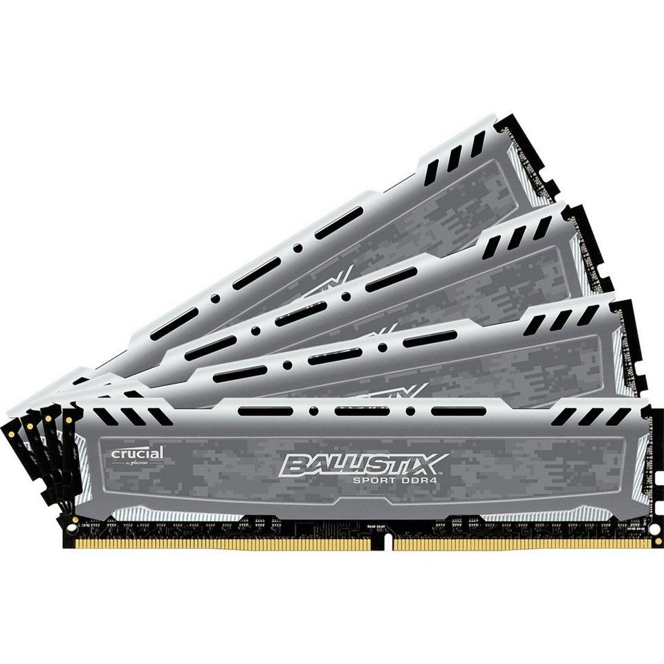 Crucial Arbeitsspeicher »DIMM 32GB DDR4-2400 Quad-Kit«