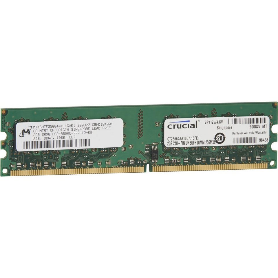 Crucial Arbeitsspeicher »DIMM 2 GB DDR2-1066«