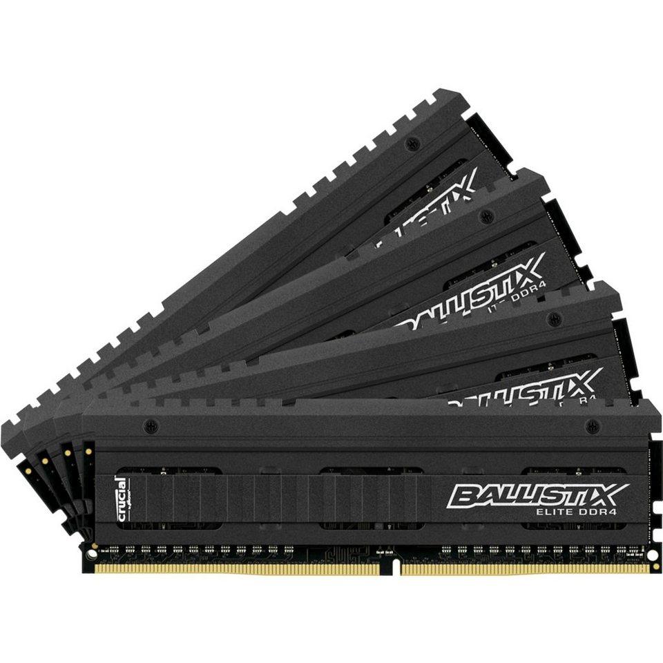 Crucial Arbeitsspeicher »DIMM 32GB DDR4-2666 Quad-Kit«