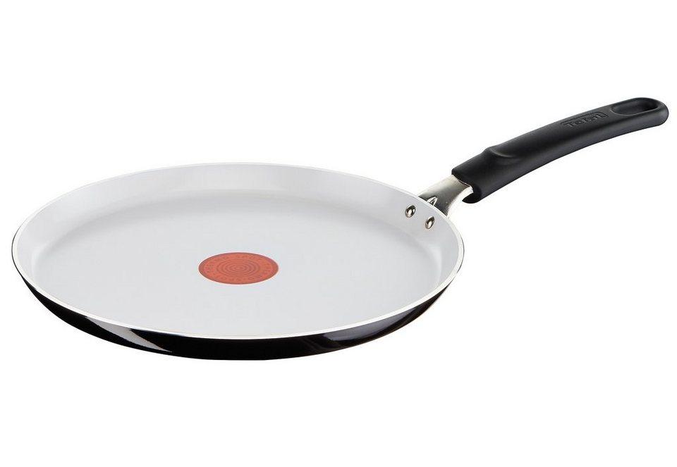 Tefal Crêpes-Pfanne, »CeramicControl White« in außen schwarz/innen weiß