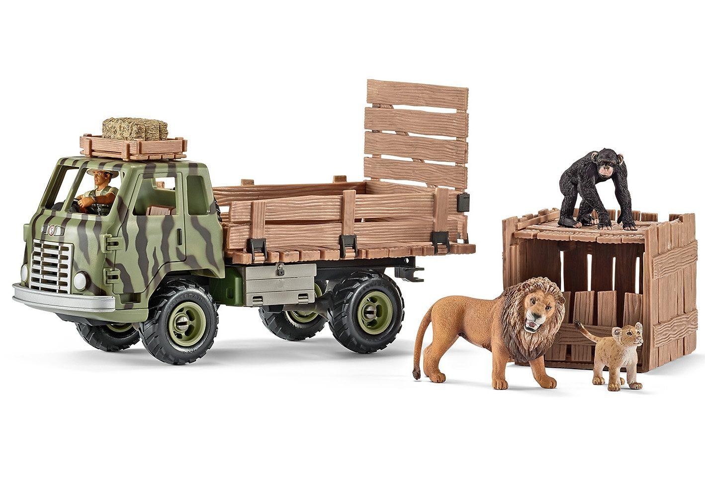 Schleich® Spielset (41410), »World of Nature, Wild Life - Safari Tierrettungs-Truck«
