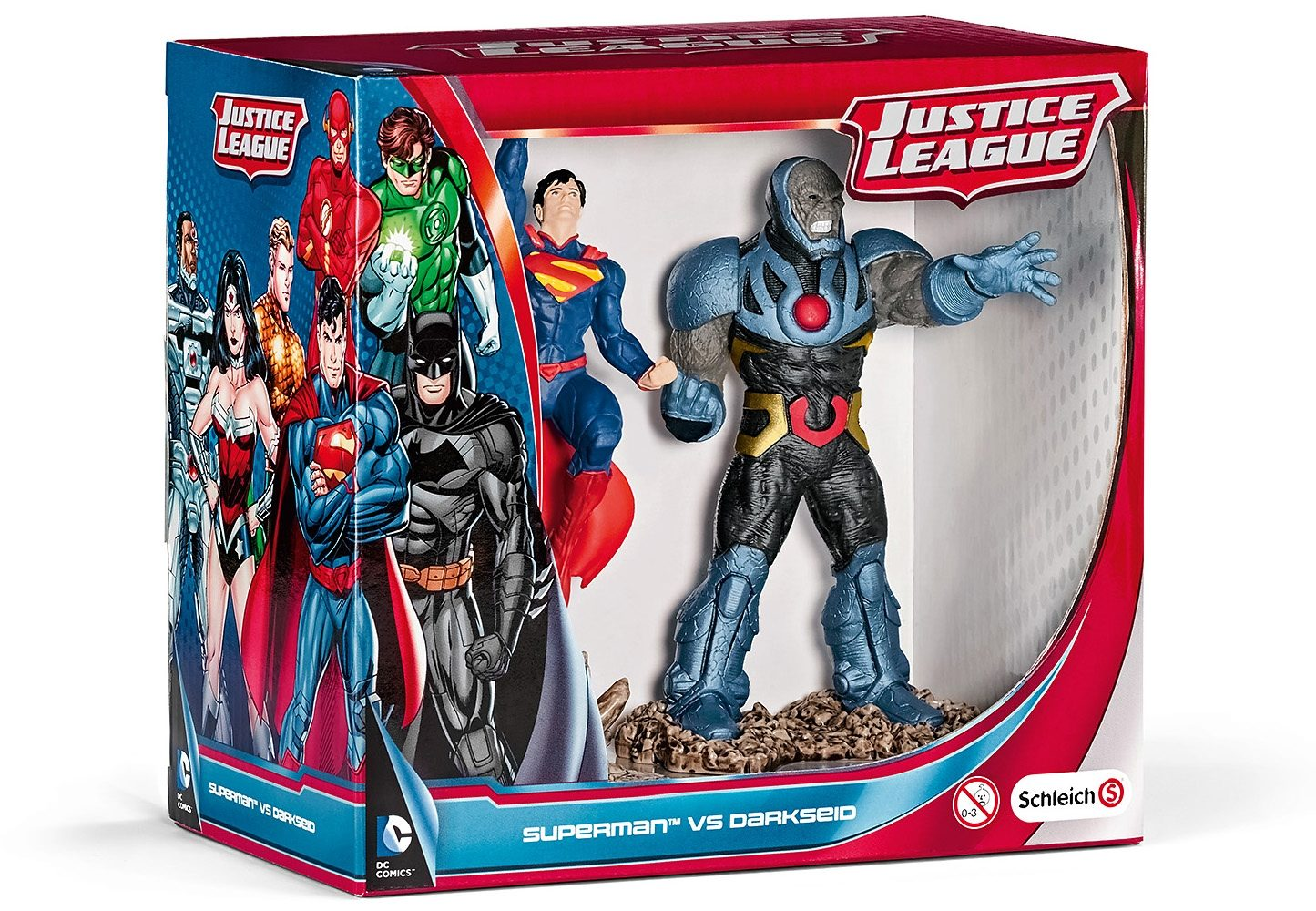 Schleich® Spielfiguren (22509), Scenery Pack, »Justice League - Superman vs. Darkseid«