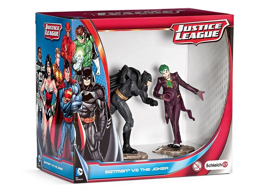 Schleich® Spielfiguren (22510), Scenery Pack, »Justice League - Batman vs. The Joker«