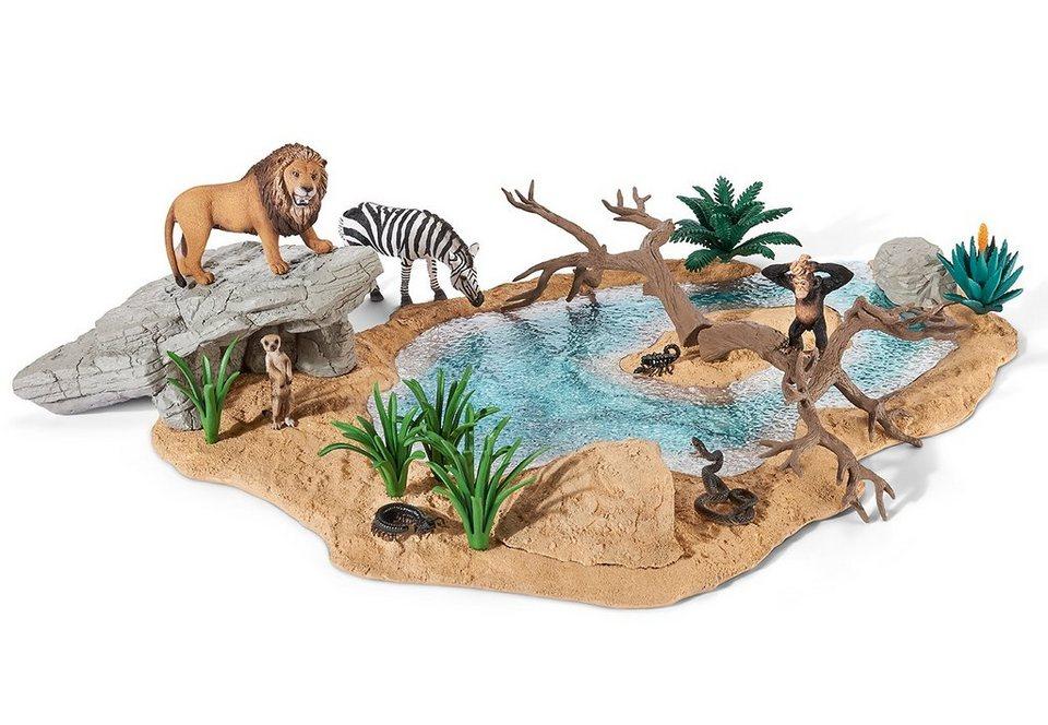 Schleich® Spielset (42258), »World of Natur, Wild Life - Wasserstelle«