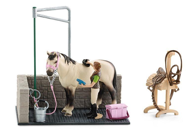 Schleich® Spielset (42104), »Horse Club - Waschplatz«