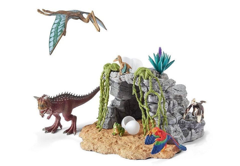 Schleich® Spielset (42261), »World of History, Urzeittiere - Dinosaurierset mit Höhle«