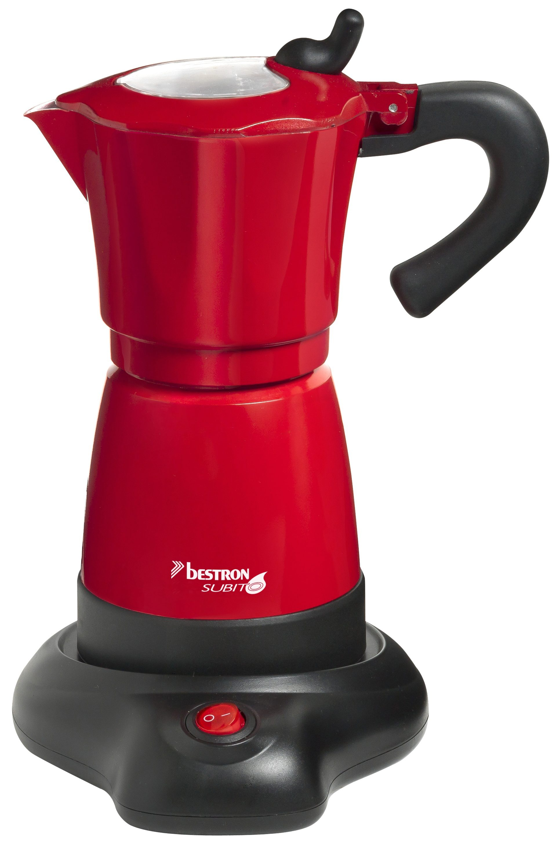 bestron Espressokocher AES480, für bis zu 6 Tassen Espresso, 8 Bar, Aluminiumgehäuse
