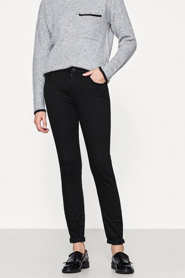 ESPRIT CASUAL 5-Pocket-Skinny Jeans mit Stretch in BLACK