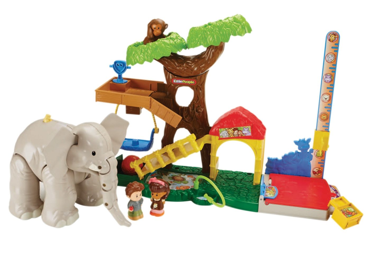 Fisher Price Tier Spiel-Set, Little People, »Maxi-Tierwelt Zoo«