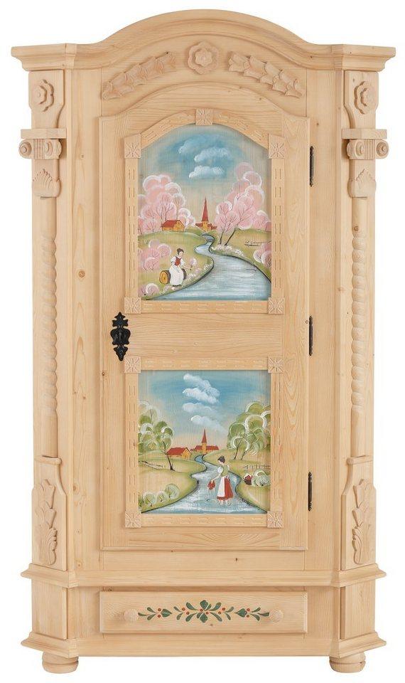 Premuim Collection by Home affaire Garderobenschrank »Teisendorf« ,wahlweise mit Handbemalung in bemalt