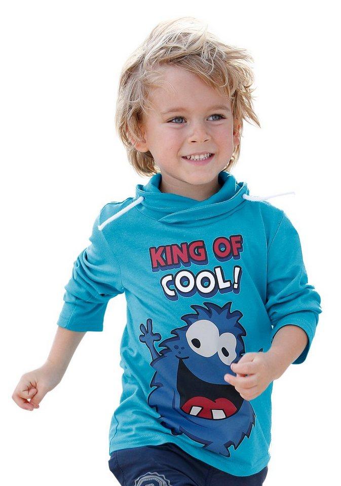 """CFL Langarmshirt """"KING OF COOL!"""" in türkis"""