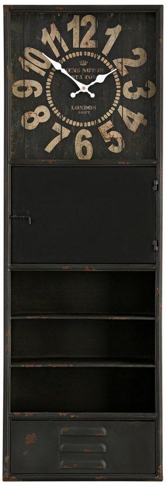 Home affaire Wanduhr »Cabinet« in braun