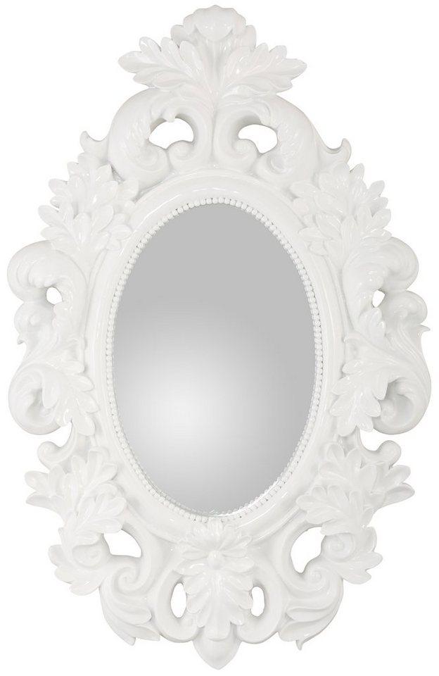 Wandspiegel, Home affaire, »Schönerempfang« in weiß