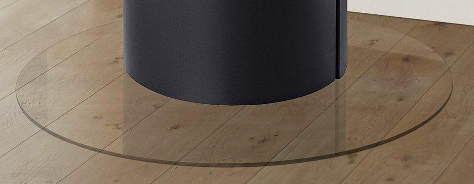 Glasbodenplatte »Rund«, Ø 110 cm, transparent, zum Funkenschutz in weiß