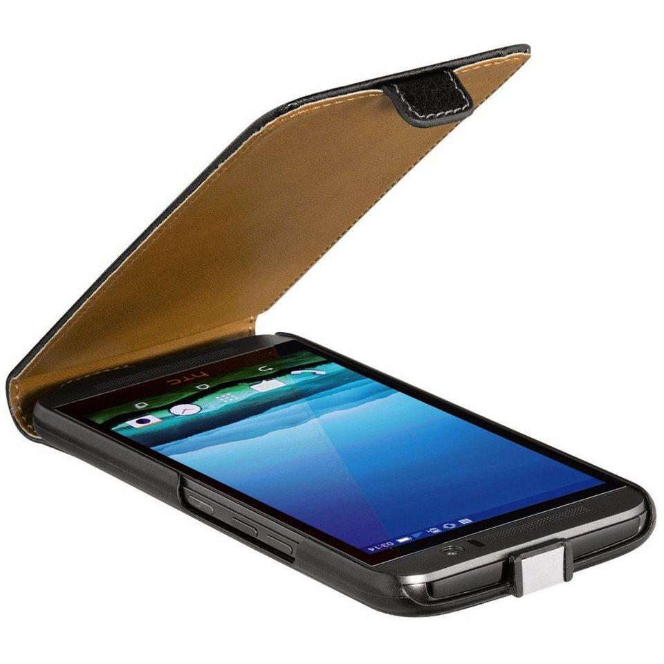 Flashstar Leder-Hülle Flip Case für HTC One M9 (mit Magnetverschluss) in Schwarz