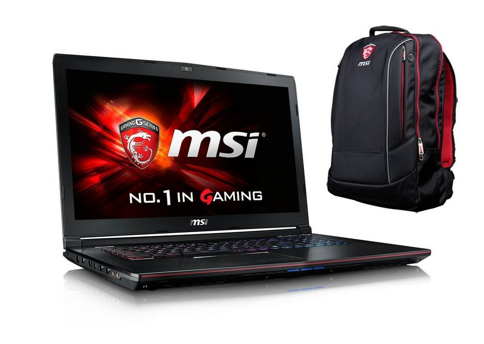 "MSI 17,3"", Intel® i7-5700HQ, SSD + HDD, GeForce® GTX 970M »GE72-2QFi7W16SR21BW (001791-SKU1002)«"