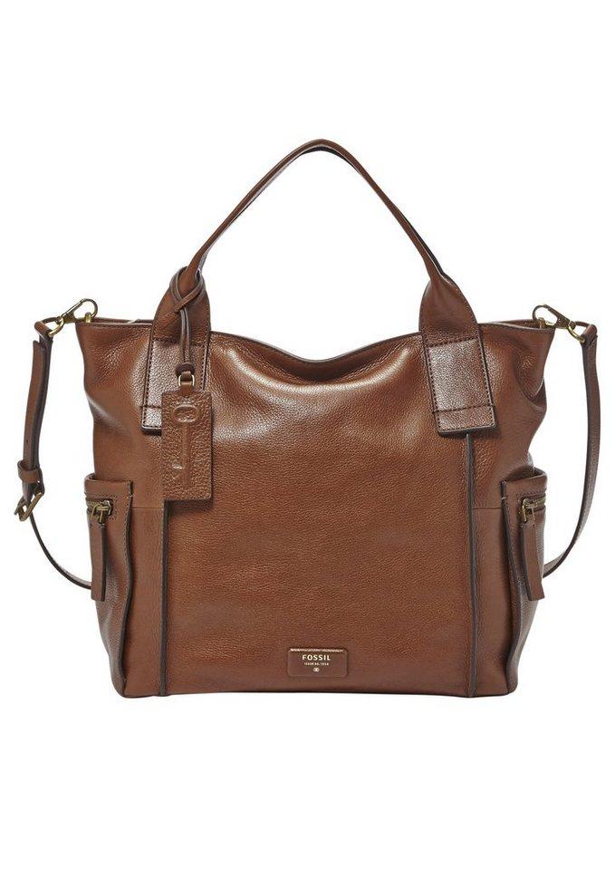 Fossil Handtasche »EMERSON SATCHEL« aus Leder in braun