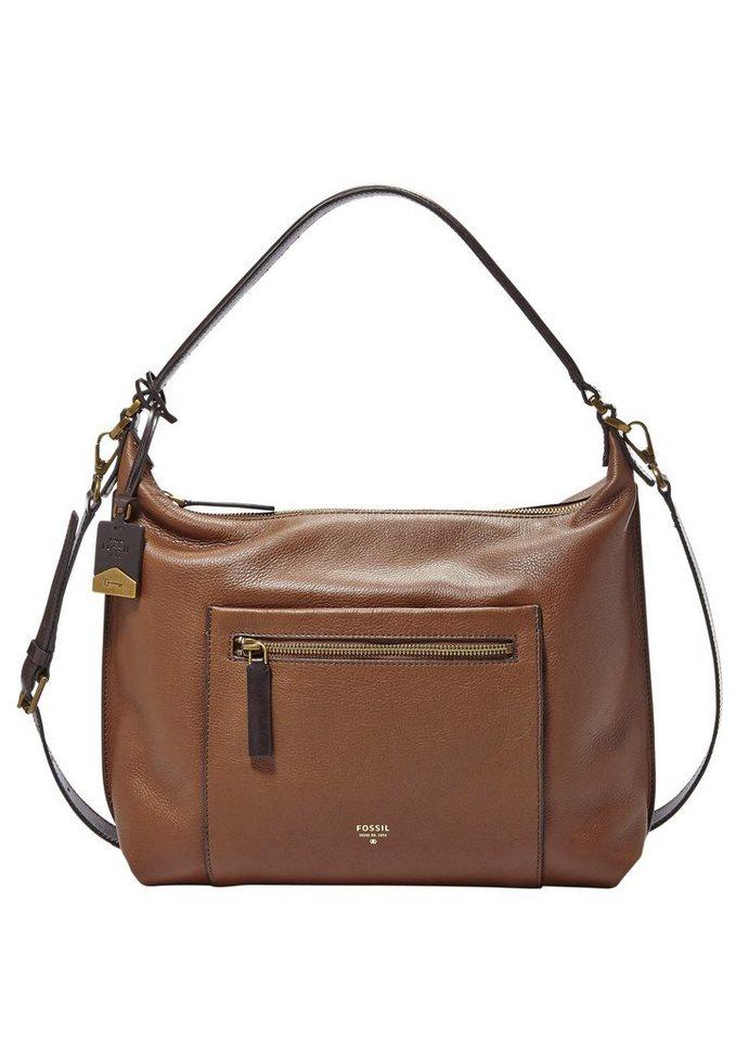 Fossil Hobo Bag »VICKERY SHOULDER BAG« aus Leder in braun