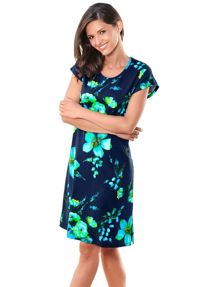 Strandkleid, Arabella in blau-bedruckt