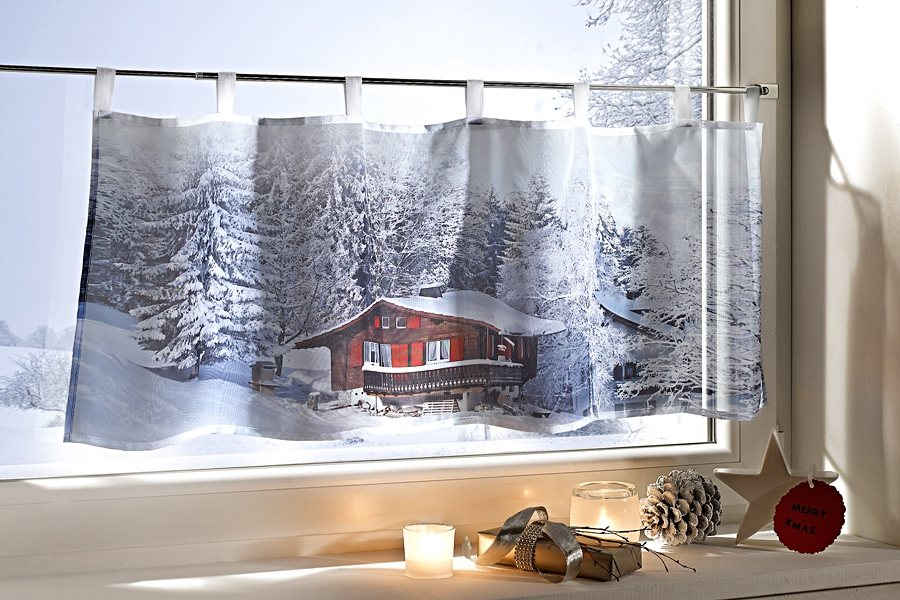 weihnachtsgardinen online kaufen otto. Black Bedroom Furniture Sets. Home Design Ideas