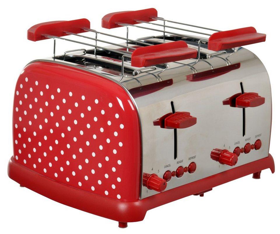 TEAM KALORIK Toaster TO 1009 RWD für 4 Scheiben, 700 Watt in Rot
