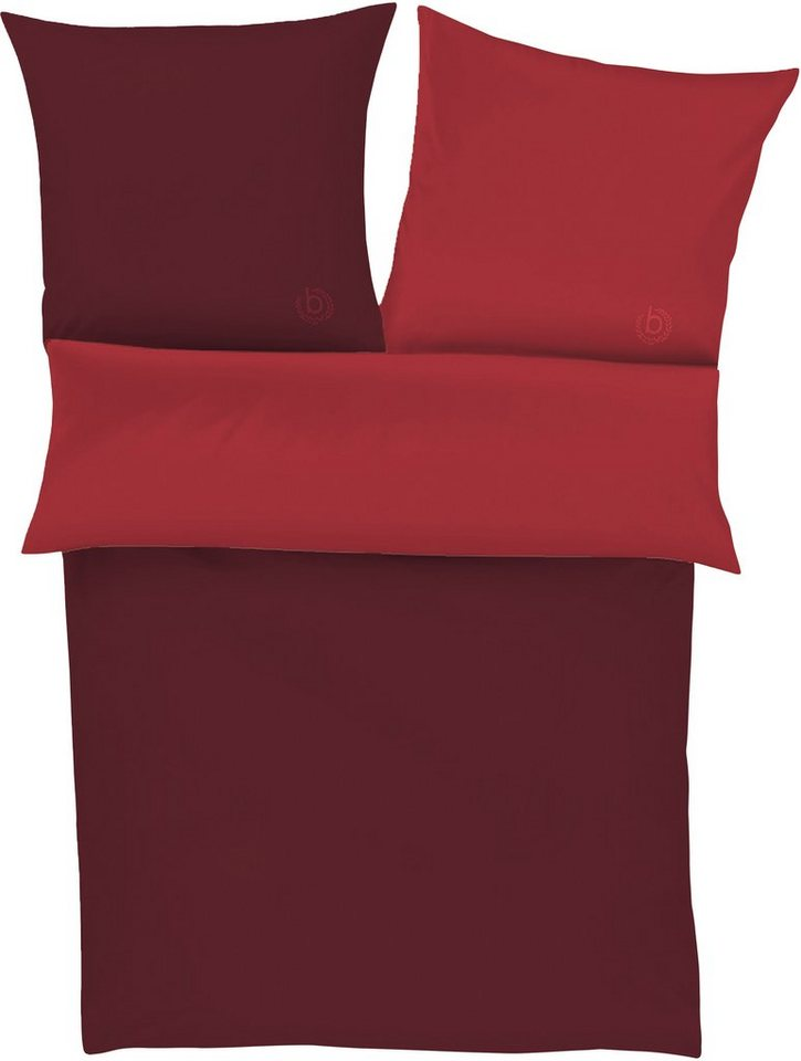 Wendebettwäsche, bugatti, »Paul«, unifarben gehalten in rot
