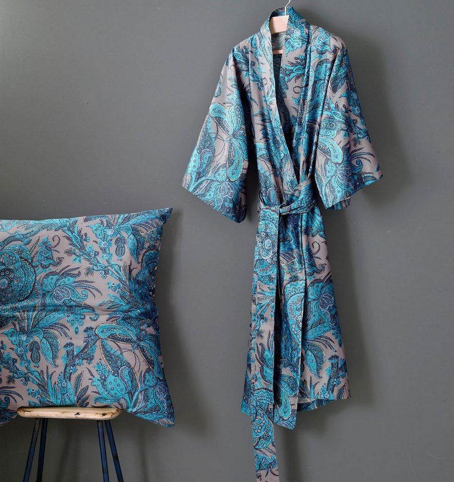 Kimono, Zucchi, »Garden«, mit Paisleys in bordeaux