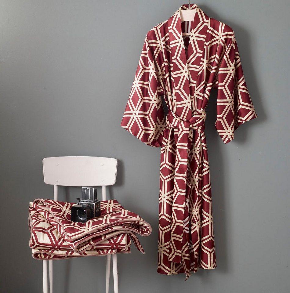 Kimono, Zucchi, »Esagon«, mit Rautenmuster in bordeaux