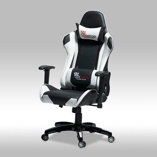 ebuy24 Gaming-Stuhl »Gamer Stuhl Wild und Bürostuhl in schwarzen und we«