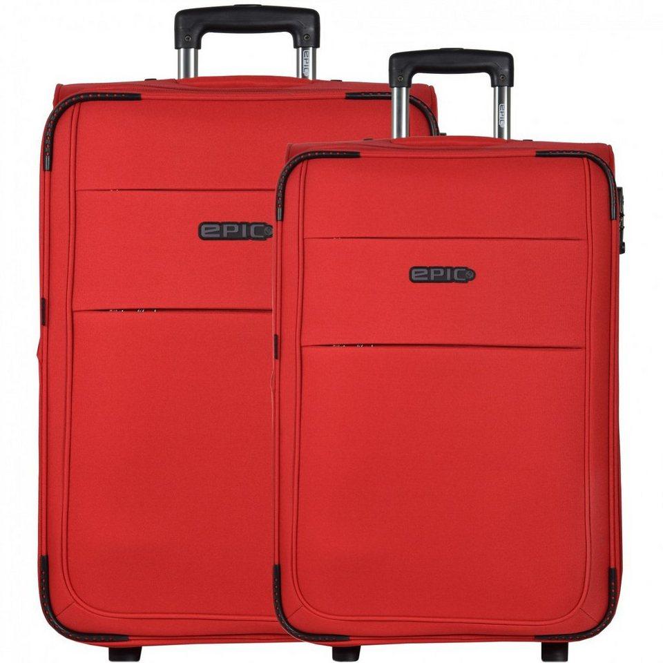Epic DiscoveryAIR 2-Rollen-Trolley Kofferset 2-tlg. in rot