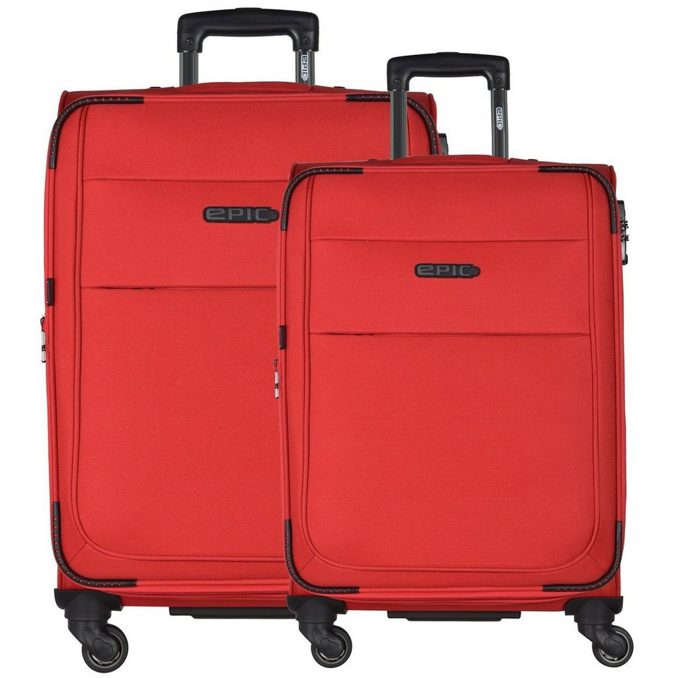 Epic DiscoveryAIR 4-Rollen-Trolley Kofferset 2-tlg. in rot