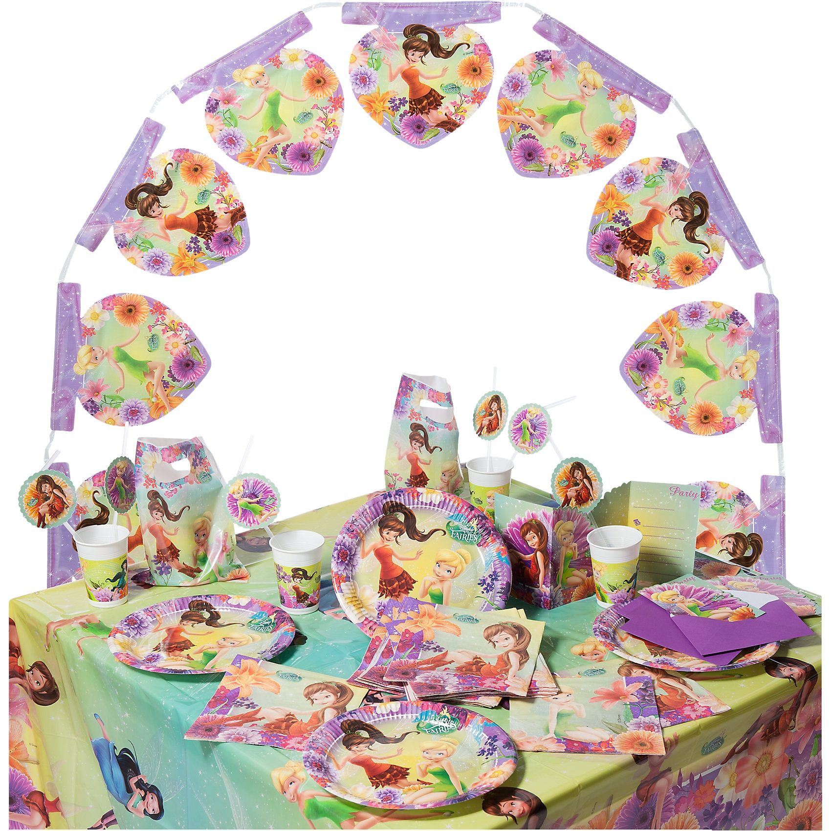 Procos Partyset Fairies Magic, 56-tlg.