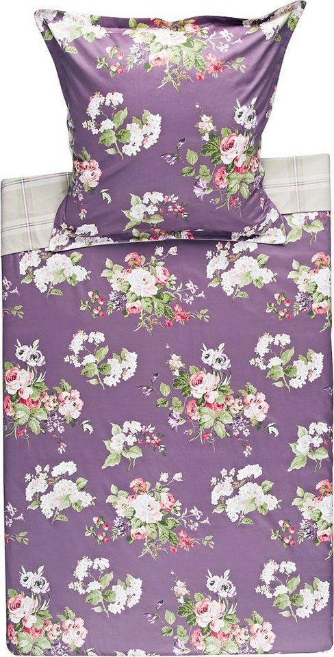 Bettwäsche, Laura Ashley, »Rosemoor Grape«, mit Karomuster in lila